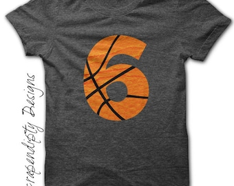 Basketball Number Iron on Transfer - Iron on Custom Basketball Shirt / Sport Birthday Party / Mom Customized Tshirt / Digital Design IT454
