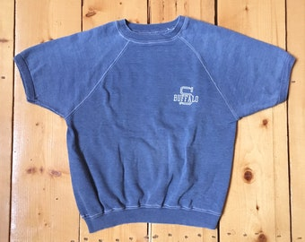 Vintage 50s 60s Buffalo Reverse Weave T Shirt - No Tag - Fits Small (Please use measurements)