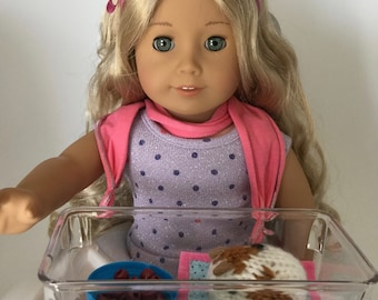 Little guinea pig set for 18 inches doll as A G Doll, or little hands to play.