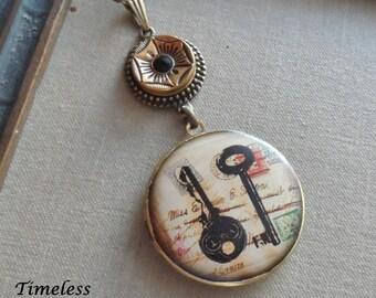 50% Off Antique Button Locket Necklace- Secrets
