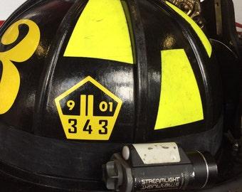 Fire Helmet Decal Etsy - Custom reflective fire helmet decals