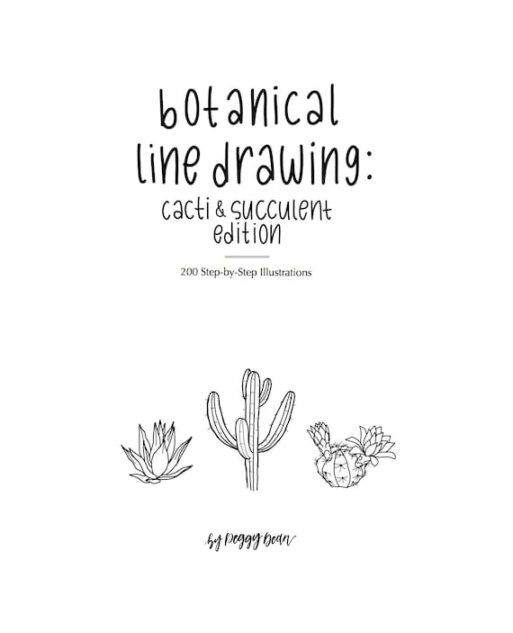 Ebook pdf download botanical line drawing cactus succulent 50 fandeluxe Gallery