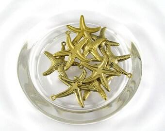 20.5 x 22 MM. Brass starfish Findings (100 pcs.)