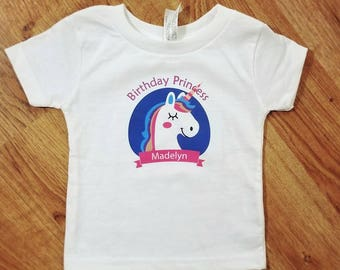 Birthday Princess Shirt | Unicorn Birthday Shirt | Unicorn Birthday Party | Personalized Birthday Shirt | Custom Birthday Shirt