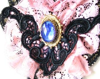 SALE Mrudu /// Victorian Collar/Bib Necklace by Jhumki - designs by raindrops