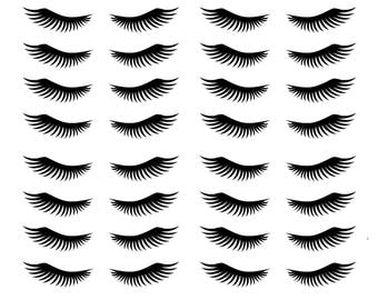 15 stickers Eyelash mascara stickers