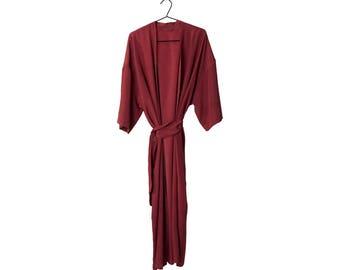 Crepe Silk kimono long