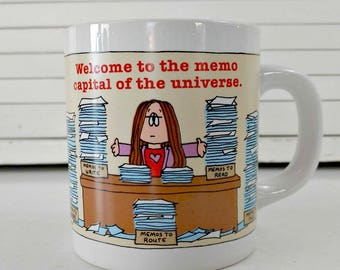 Vintage Coffee Mug Cathy / Collectible Mugs / Cathy Guisewite / Comic Strip Mugs / Vintage Kitchen Decor / Office gifts / coffee lover gifts