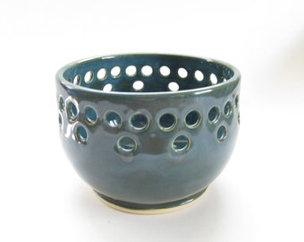 Teal Lantern, Teal Luminary, Teal Candleholder, Ceramic Lantern, Ceramic Luminary, Ceramic Candleholder, Pottery Lantern, Pottery Luminary