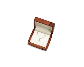 Wooden Necklace Earring Box, Oak Earring Box, Necklace Gift Box, High Quality Nacklace Earring box, Keepsake box, Heirloom Jewelry box