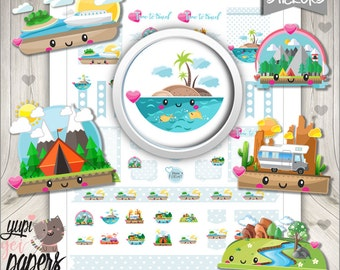 Travel Stickers, Planner Stickers, Printable Planner Stickers, Places to Travel, Planner Accessories, Landscape, Traveling