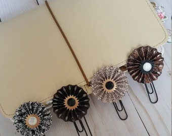Gothic Rosette Clips / Decorated Paperclips / Fan Planner Clips / Bookmark / Journal Marker / Cookbook Marker / Scripture Marker