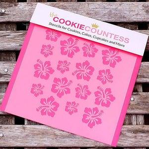 Hibiscus Cookie Stencil, Hibiscus Sugar Cookie Stencil, Hibiscus Fondant Stencil, Cookie Countess Cookie Stencil, Hibiscus Stencil