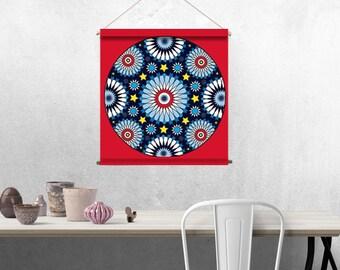 Mandala fabric: Moroccan zellige