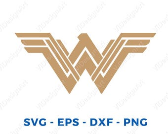 New Wonder Woman SVG file for cricut machines, cricut files, silhouette files, instant download, New Wonder Woman Logo