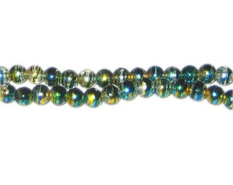 6mm Pure Elegance Abstract Glass Bead, approx. 50 beads
