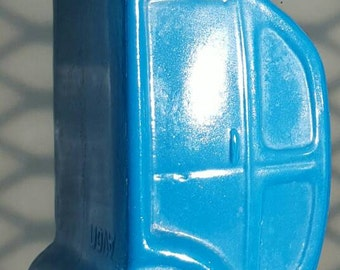 Avon Blue Volkswagen Beetle Vintage Decanter
