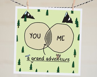 Grand Adventure Card | Valentine's Day Card for Boyfriend | Cute Valentine's Card For Wife | Proposal Card | Anniversary Card For Couple