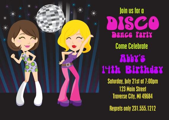 Einladung geburtstag 70er party