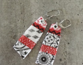 polymer clay earrings - new collection - cement tiles effect