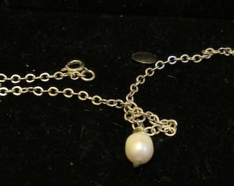 Pearl Anklet Sterling silver
