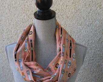 Infinity scarf, fabric scarf, tube scarf, eternity scarf, loop scarf, long scarf in a unique cotton fabric