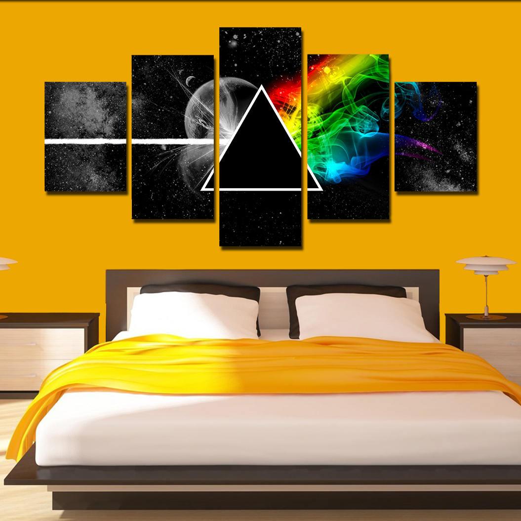 Pink Floyd Canvas Art Pink Floyd poster print 5 panel home art