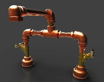 Mingling Copper and Bronze Bathroom Faucet 8