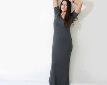 Maxi Dress • Short Sleeve • Tall or Petite Length Women's Dresses • Lightweight Dress • Made in our USA loft • L415 & Co (#415-657)
