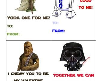 Star Wars Valentine's Cards