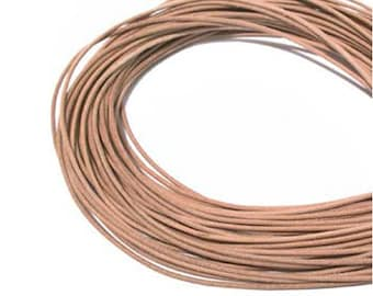 1.5mm Natural Greek Leather Cord 42733 (5 meters),  Jewelry Cording, Necklace Cord, Bracelet Cord, 1.5mm Cording, 1.5mm Leather Cording