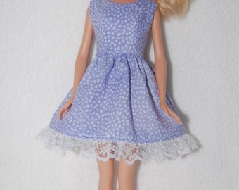 Barbie doll dress  Light purple with lace hem  A4B043