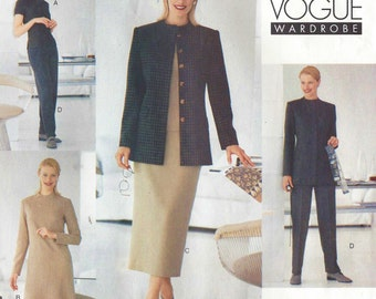 Womens Jacket, Dress, Top, Skirt and Pants Vogue Sewing Pattern 2219 Size 6 8 10 Bust 30 12 to 32 1/2 Uncut Vogue Career Wardrobe