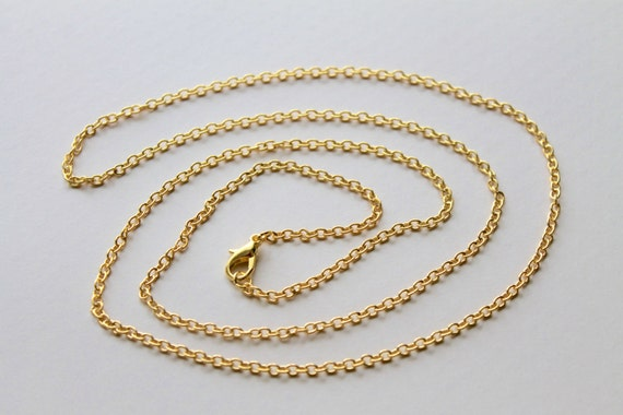 Wholesale Gold Plated Chains Finished Cable Link Chains
