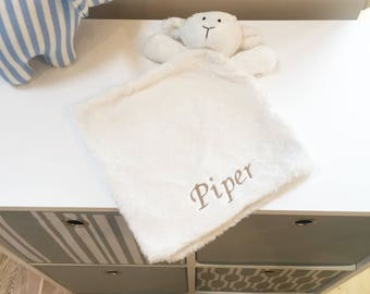 New Baby Gift /  Personalised Baby Comforter / Soft Baby Toy