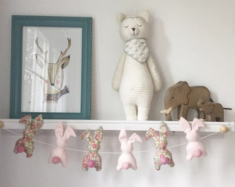 Bunnies Garland pink liberty