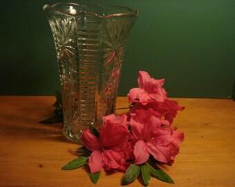 SALE - Vintage Flower Vase by Anchor Hocking