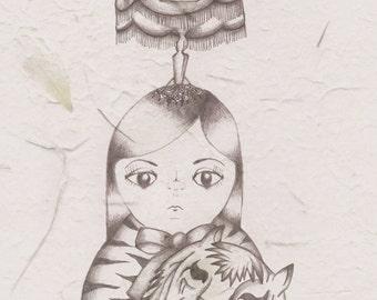 SAMARA A4 Art Print by Winnifreds Daughter