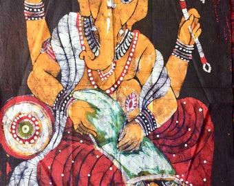 Indian god Ganesha Batik painting