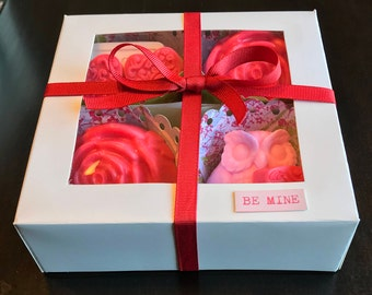 Valentines Fancy Soap Gift Box  -  100% Hand Made