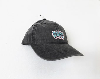 Faded Black Dope Patch Baseball Cap