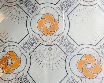 Free Shipping - Gold Dew Drop African Fabric - 1 Yard