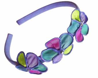 Glowing Garden trio blossoms headband