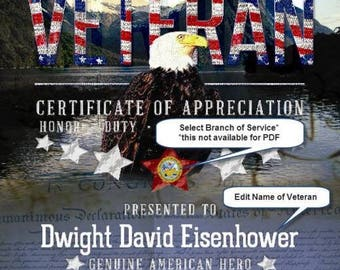 The American Veteran Personalized Print
