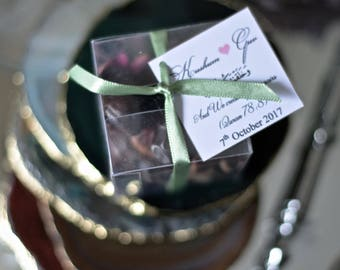 Date & Rose Box Wedding Favour x50
