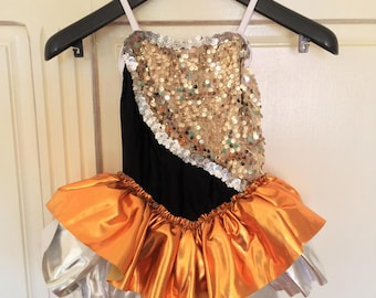 Gold and silver sequined Leotard for gym