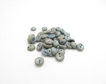 60 x Matt Gun Metal Grey Piggy Beads, Grey Piggy Beads, Matt Piggy Beads, Czech Glass Beads 4x8mm PIG0033