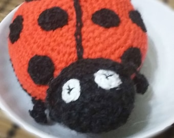 Ladybug Doll Acrylic and Wool