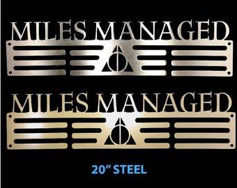 Miles Managed steel medal hanger holder Harry Potter Deathly Hallows