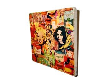 Andy Warhol poster - Pop Art - poster - gift. for. men. women - ArtesanalWoodprint - TALLER DENCANTS - wall art - wood
